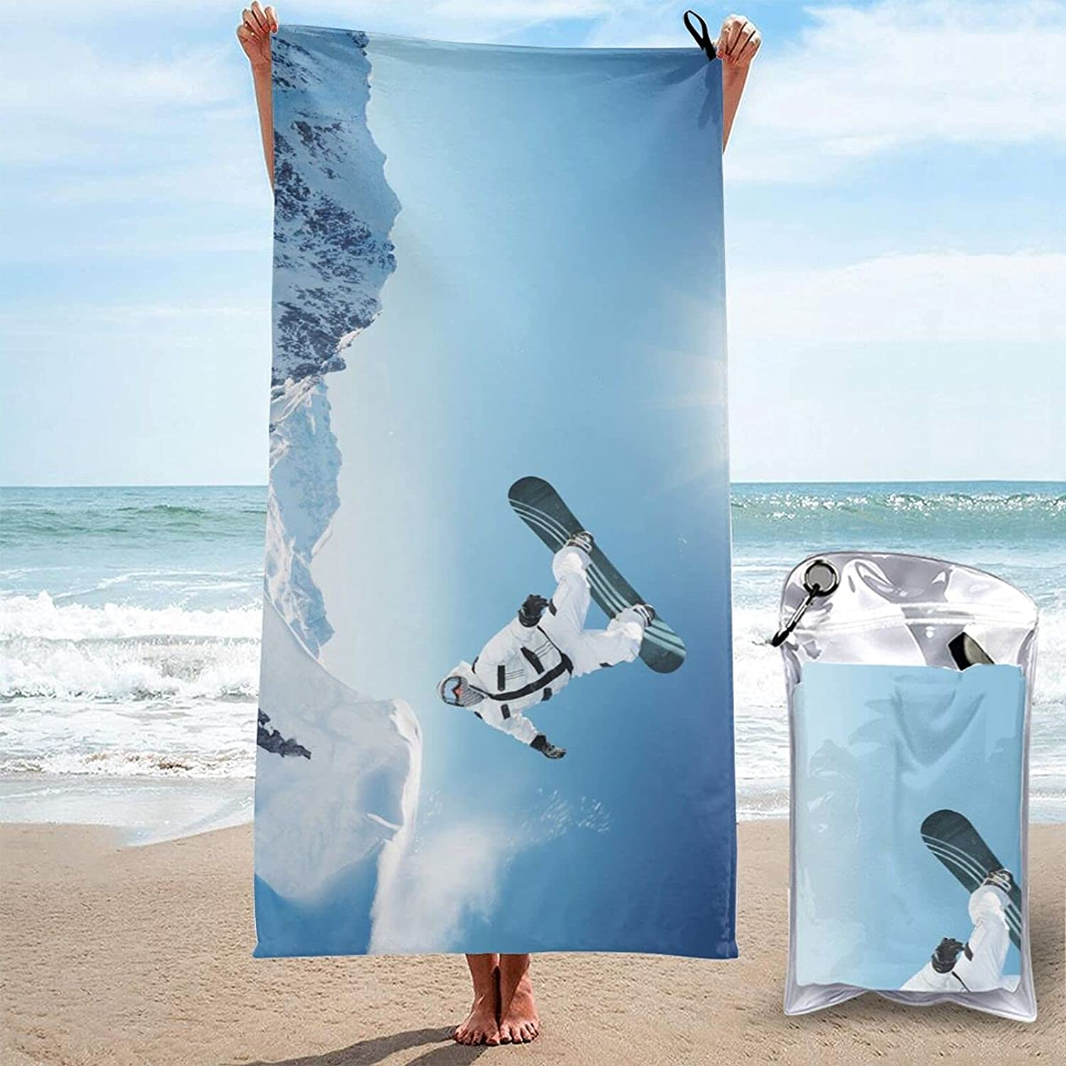 Max 75% Max 68% OFF OFF Sunset Seaside Print Quick Absorbent Super Dry Towel