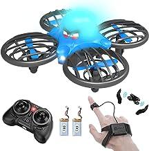 FLYHAL F111, Infrarrojo Sensor RC Drone para Niños y Principiantes, Control Remoto por Reloj Inteligente y la Mano Sensor de Gravedad 360°Giros Control de Altitud Modo sin Cabeza 30 Metros UFO Drone
