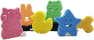 Baby Bath Sponge 6 Pack – Baby Sponge Super Soft for Bathing – Natural Infant Bath Sponge – Fast Drying Baby Bath Tub Spon...