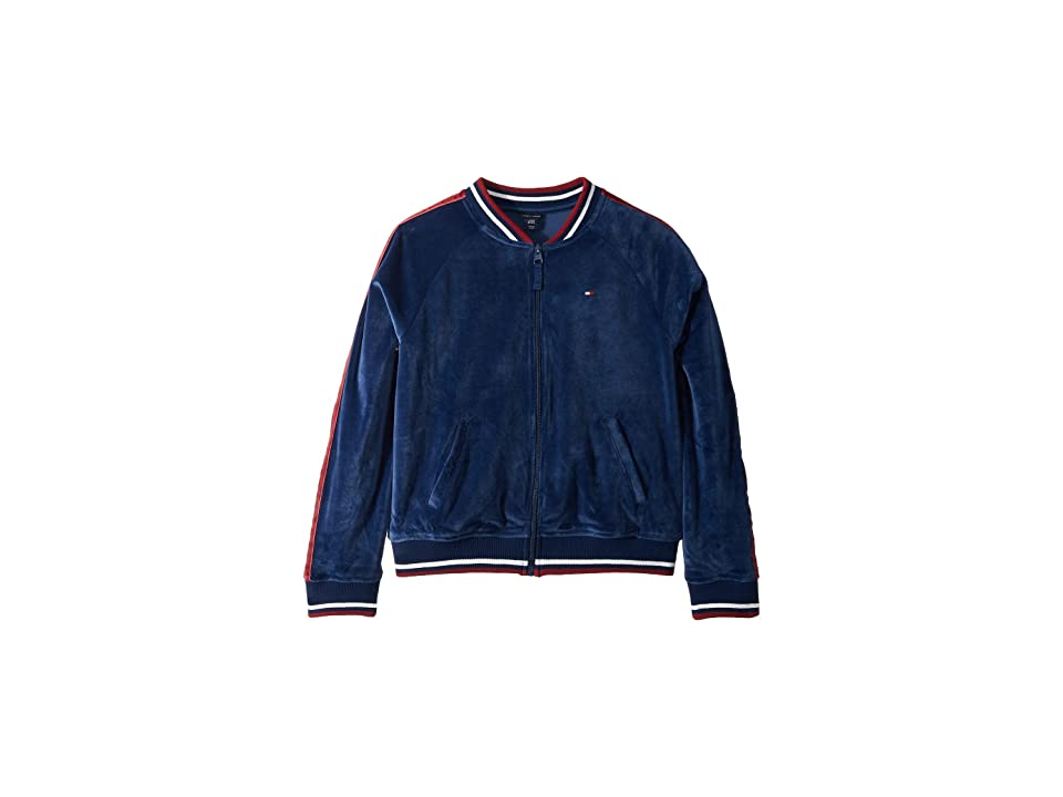 Tommy Hilfiger Kids Velvet Bomber (Big Kids) (Flag Blue) Girl