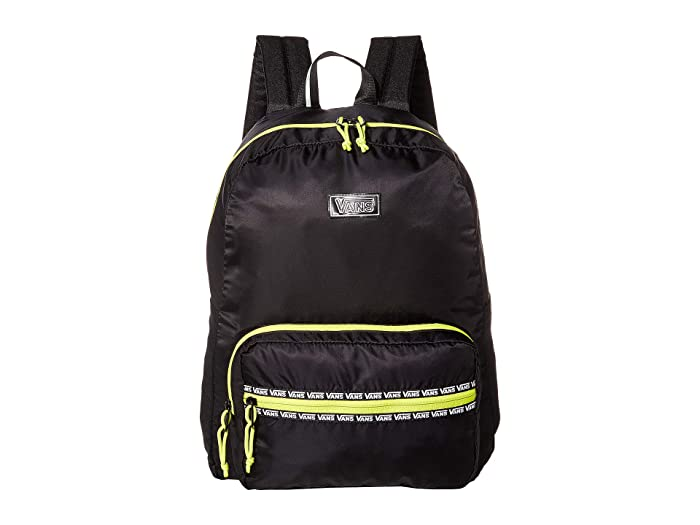 Vans  After Dark Reflective Backpack (Black/Evening Primrose) Backpack Bags