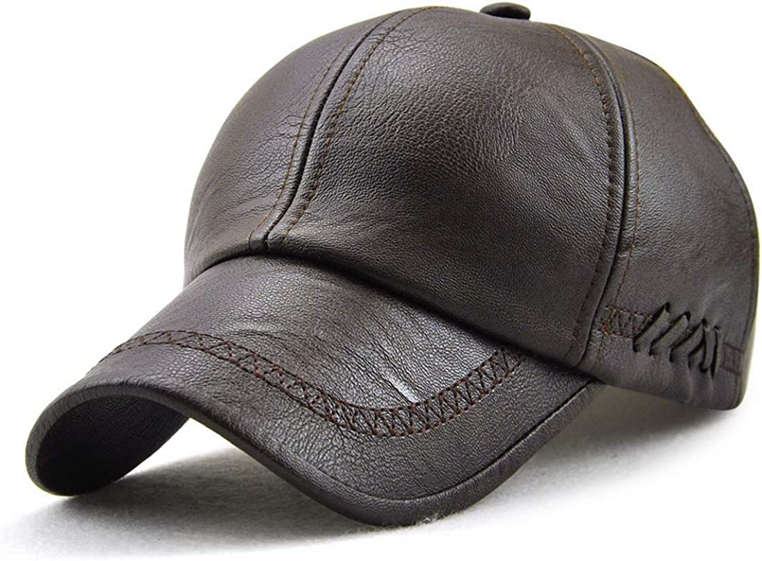 2021 autumn and winter new Mens Patent Leather Surprise price Adjustable Cap Breathable Baseball Vintage