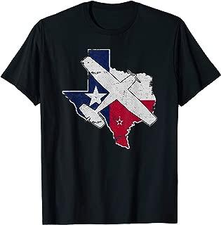 Texas Pilot State Flag C172 Skyhawk Airplane Vintage T-Shirt