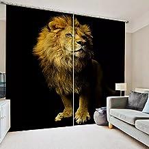 Luxe verduisterende 3D gordijnen woonkamer slaapkamer leeuw gordijn persoonlijkheid gordijn 220x215cm