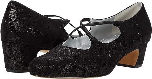 Black Metallic Veg Calf Leather
