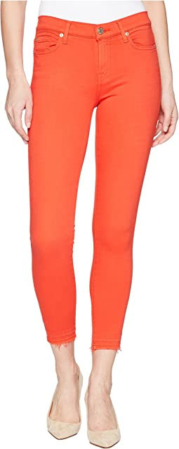 7 For All Mankind - The Ankle Skinny w/ Released Hem in Poppy