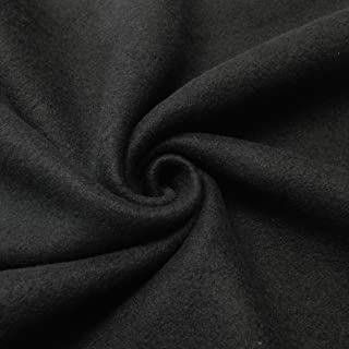 """Solid Polar Fleece Fabric Anti-Pill 60"""" Wide by The Yard Many Colors (Black)"""