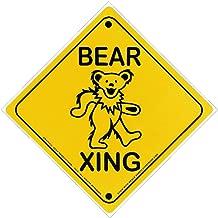 Gypsy Rose Grateful Dead Dancing Bear Xing (Bear Crossing) - Magnetic Bumper Sticker/Decal Magnet (4