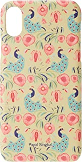 Macmerise IPCIXSPPS1492 Payal Singhal Anaar and Mor Olive - Pro Case for iPhone XS - Multicolor (Pack of1)