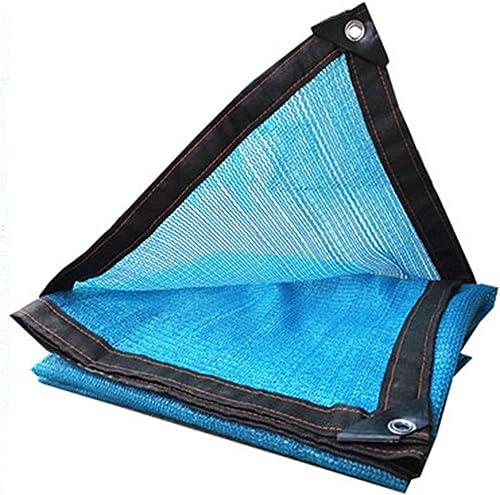 Filet de masquage 6 Points de Suture Cryptage Piscine Camping en Plein air Tissu écran Solaire Bleu, 23 Tailles