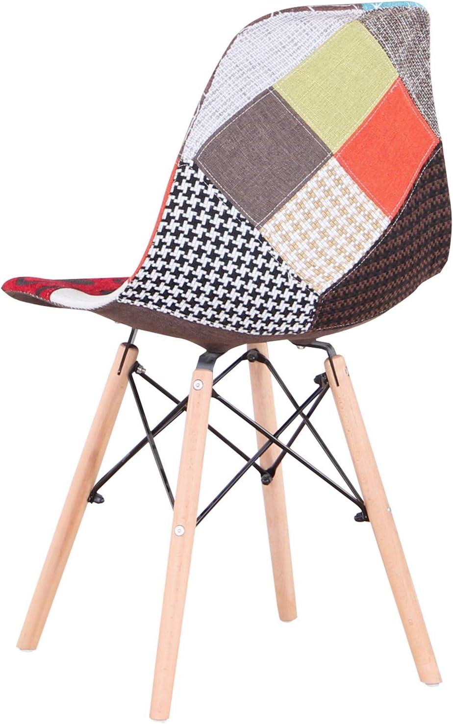 Uderkiny Ensemble de 4 chaises Patchwork Chaise de Salle à Manger, Convient pour Cuisine Salle à Manger Salon Bureau (Rouge 01) Rouge 02