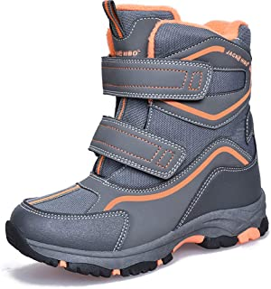 MARITONY Kids Boys Girls Warm Snow Boots Outdoor Cold Weather Winter Boots for Kids Waterproof Non Slip Lightweight Snow B...