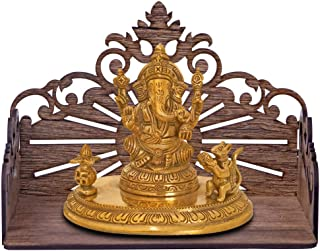 pranali enterprise ooden Wall Mount Temple for Home Shop Office | Art and Craft Wooden Temple | Home Temple | Puja Mandir...