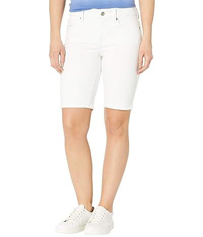 NYDJ Petite Petite Briella Denim Shorts in Optic White Women