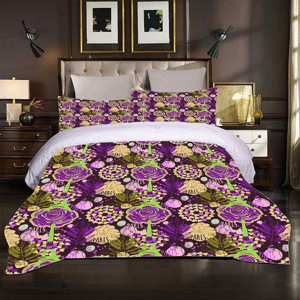 Ranking TOP10 HYHTUD Duvet Cover Sets Queen Size Flower 3D Oakland Mall Purple Rose 90