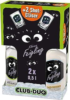 Kleiner Feigling Duo  2 Sammel-Shot-Gläser, Original Coco Biscuit Marken-Spirituose Premium Likör Feiern mit Fantasie Der Party – Shot Wodka 2 x 0,5 l, 40411