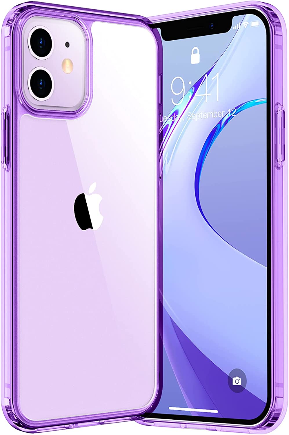 Red2Fire Crystal Clear Designed for iPhone 12 Case iPhone 12 Pro Case [Not Yellowing] Slim Fit Hard PC Back Phone Case Soft Bumper Protective Case for iPhone 12 Pro 6.1 inch