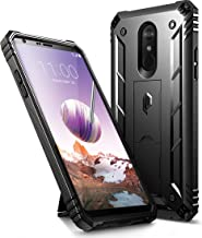 LG Stylo 4 Case, LG Stylo 4 Plus Case, Poetic Revolution [360 Degree Protection][Kick-Stand][Built-in-Screen Protector] Full-Body Rugged Heavy Duty Case for LG Stylo 4 Plus/LG Stylo 4 - Black