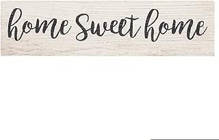 P. Graham Dunn Home Sweet Home Script Design White Wash 6 x 1.5 Mini Pine Wood Tabletop Sign Plaque