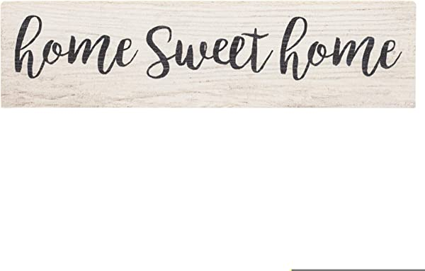P Graham Dunn Home Sweet Home Script Design White Wash 6 X 1 5 Mini Pine Wood Tabletop Sign Plaque
