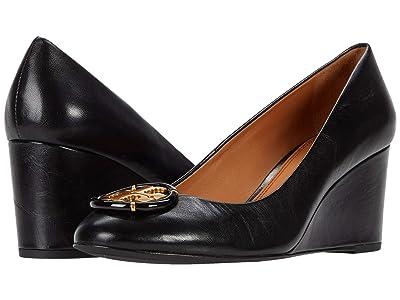 Tory Burch Multi Logo 65 mm Wedge (Perfect Black) Women