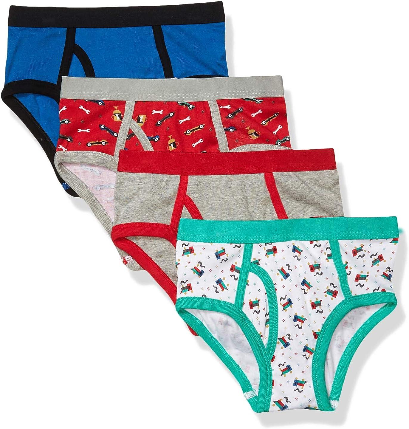 FAO Schwarz Boys' Cotton Boxer Briefs Underwear, Multipack