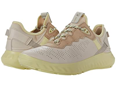 ECCO ST.1 Lite Sneaker (Multicolor Limestone Cow Leather/Yak Nubuck/Textile) Women