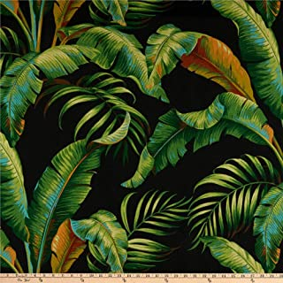 Tommy Bahama Indoor/Outdoor Palmiers Fabric by The Yard, Caviar