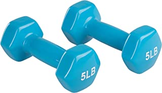AmazonBasics Vinyl Dumbbell Weight Pair, Set of 2