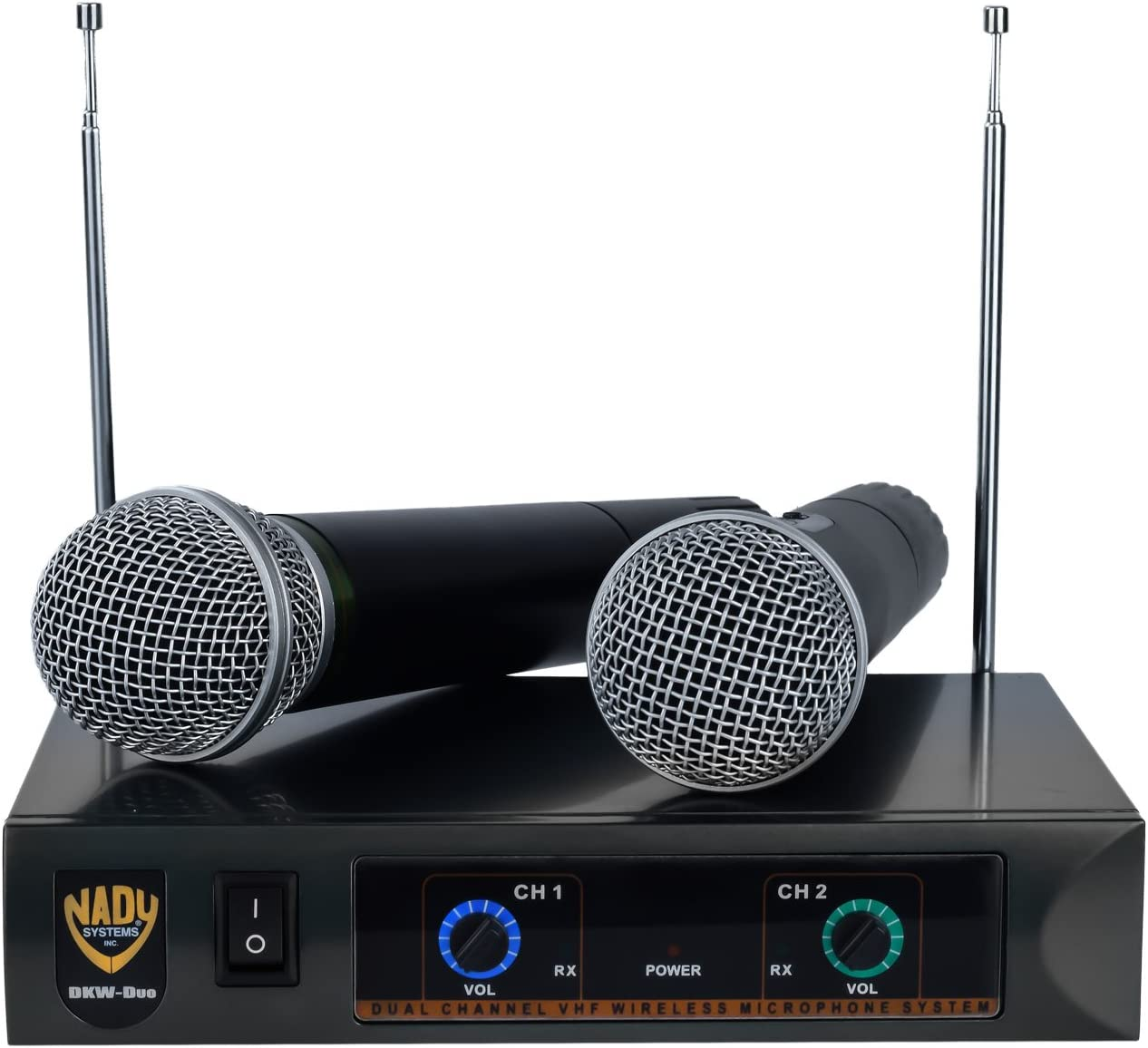 Nady DKW Limited time for free shipping DUO HT P R Wireless System VHF Dual Microphone Handheld sale