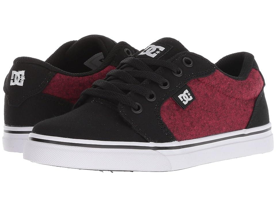 DC Kids Anvil TX SE (Little Kid/Big Kid) (Black/Athletic Red) Boys Shoes