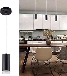 Hobaca 12W Moderno LED Cilíndrico Acrílico Focos para el techo Downlight Lámpara Iluminación colgante de la isla para Cocina Isla Bar Salón Comedor Luz