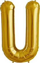 """The golden store 16"""" Alphabet Letter Shape Golden foil Balloon (U Letter) for New Year Party Decorations"""