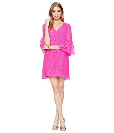 81a474c956812d Lilly Pulitzer Caroline Silk Tunic Dress (Pinata Pink Starry Clip Chiffon)  Women
