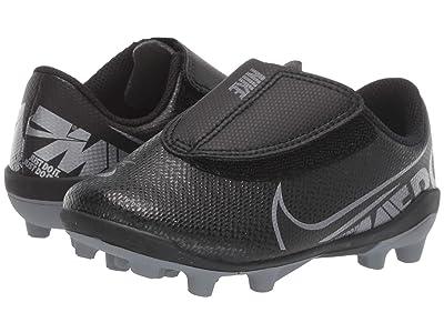 Nike Kids Jr Vapor 13 Club MG Soccer (Toddler/Little Kid) (Black/Metallic Cool Grey/Cool Grey) Kids Shoes