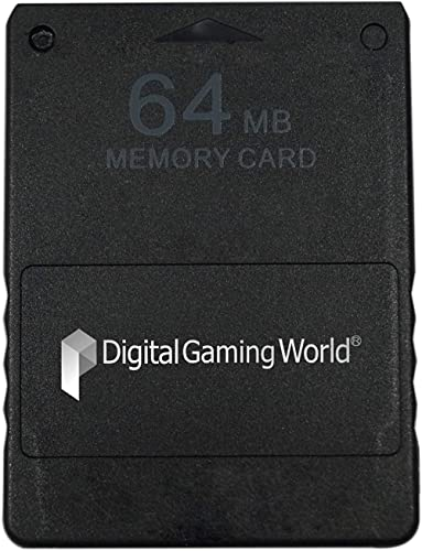 Digital Gaming World 64-MB Memory Card for PS-2 (Black)