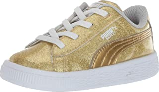 PUMA Girl's Basket Metallic Sneaker