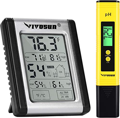 2021 VIVOSUN Digital Indoor Thermometer wholesale online and Hygrometer and PH Meter sale