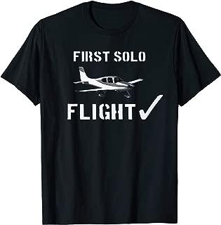 First Solo Flight  T shirt New Pilot Gift T-Shirt