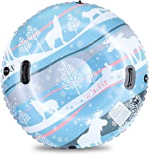 KidsPark Snow Tube 47 Inch Double-Layer Thickened Snow Tubes for Sledding Heavy Duty, Super Large Inflatable Tube Sled for...
