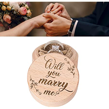 Glass Cover Ring Box Engraved Proposal Ring Box Will you Marry me Ring Box Engagement Ring Box Rustic Proposal Box Wooden Proposal Box