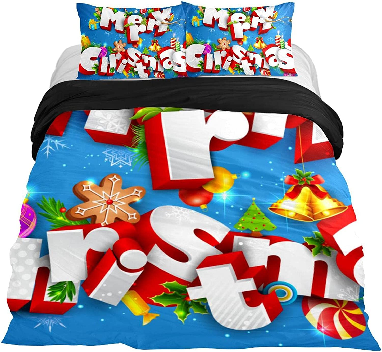 Dragon Sword 3PCS Max 75% OFF Ranking TOP15 Bed Sheet Set Christmas Pattern Printed Merry