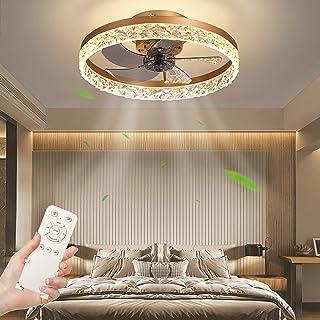 30W Ventilateur de plafond avec lumière ,3 températures de couleur et 4 vitesses, Dimmable Ventilateur Plafonnier avec Tel...