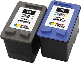 TONER EXPERTE® Reemplazo para HP 56 57 2 Cartuchos de Tinta compatibles para HP Officejet 5610 4215 PSC 1210 1215 1315 2110 Photosmart 7260 7350 7450 7660 7762 7960 C4180 C4280 C5280   Alta Capacidad