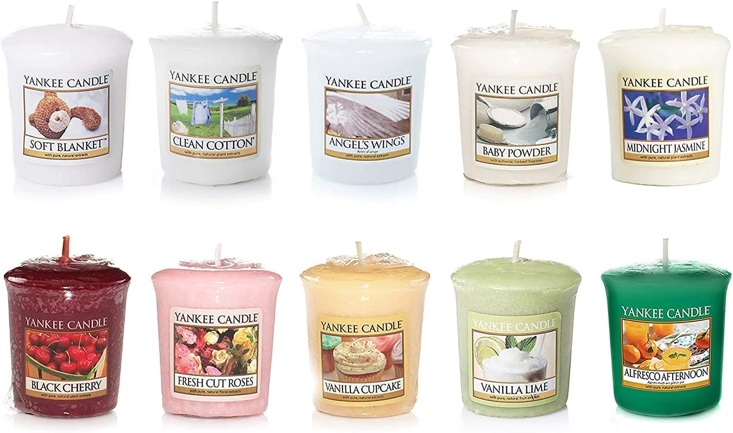 Yankee Candle Value Bundle with Candles Easy-to-use Votive Mixed 10 Scented Columbus Mall