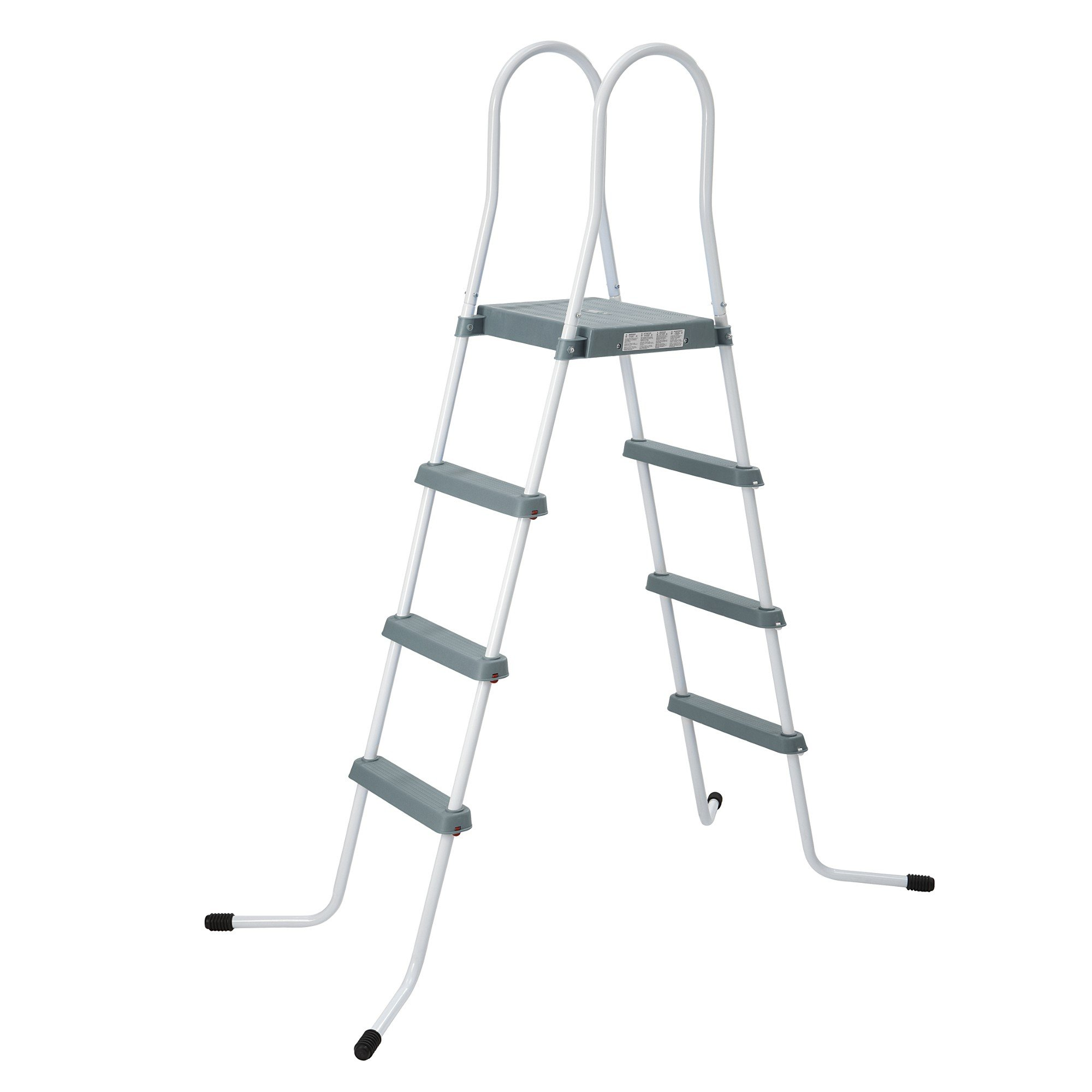Jilong 4-122 Pool Ladder Grey - Escalera de 4 peldaños, para Piscinas de hasta 122 cm: Amazon.es: Jardín