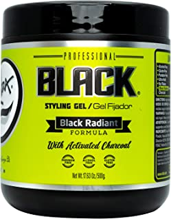 Rolda Black Styling Hair Gel Extra Strong Hold 17.6oz