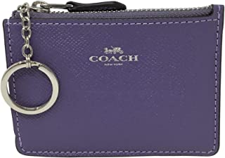 Coach F12186 Mini Skinny ID Case in Crossgrain Leather Light Purple