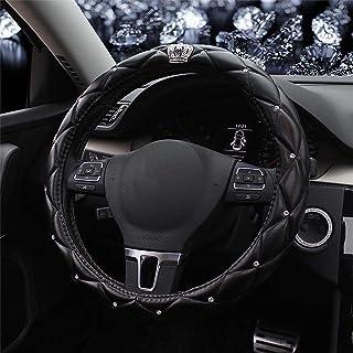 HANLING Color Name : 1pc Seat Belt Cover Bling Bling Ruota Colorata Steering Strass Car Cover Rotella Diamante Cristallo for Le Donne Ragazze Accessori Auto Interni