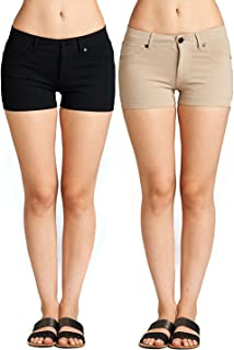 Women's Summer Casual Stretchy Shorts, Junior Sizing